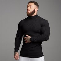 Autumn Winter Fashion Turtleneck Mens Thin Sweaters Casual Roll Neck Solid Warm Slim Fit Men Pullover Male 211021