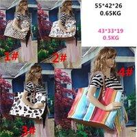 Tassel Leopard Tote Handbags Rainbow Striped Duffel Bag 4 Desgin 22inch Floral Bags Women PU Animal Print Hangbag Travel 1316 B3