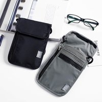 Card Holders Waterproof Nylon Anti-Theft Travel Passport Neck Pouch Phone Wallet ID & Case For Men And Women Crossbody Bag