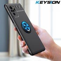 Capas de telefone celular Keysion-Fundafono A PRUEBA Golpes Para Redmi Nota 10, 5G, Soporte Teléfono, Funda Trasera Silicona Xiaomi 10 Pro Max