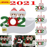 Lowest Price!2021 Quarantine Christmas Birthdays Party Decoration Gift Product Personalized Family Ornament Pandemic Social Distancing