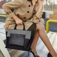 Evening Bags Larger Capacity Alligator Handbags For Women 2021 Luxury Designer Genuine Leather Famous Soho Bag Cc