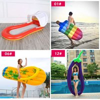 Gonfiabile Materasso Piscina Galleggiante Materasso Gigante Gigante Piscina Lounge Party Toys Adulto Summer Beach Swimming Ring Life Buoy Raft J1210