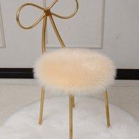 Tapis de zone en peluche Chaise de salle à manger Faux Sheepskin fourrure Cerpet Coussin de luxe Soft Tissu rond carré 35 * 35cm peut être personnalisé