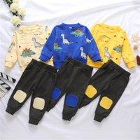 Clothing Sets Fall Spring Kids Baby Boy Clothes Long Sleeve Cartoon Print Sweatshirts Pullover Tops Pants Casual Outfits 2Pcs