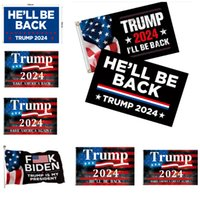 3x5 Bandera de Trump 2024 Volveré a Banner Banner Donald Flags Hacer mantener a América ideal para la campaña del presidente 90x150cm HH21-378
