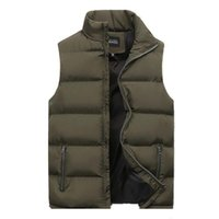 Men's Vests Winter Men Jacket Vest For Down Cotton Sleeveless Waistcoat Man Warm Mens Coat Liner Male Slim Gilet