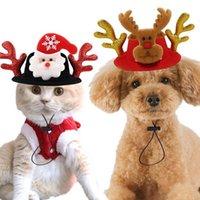 Одежда для собак 2021 Xmas Hat Pet Cat Рождественские Головные уборы Лось оленью рога