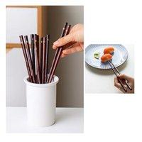 Палочки для палочек высокого качества китайский ручной работы натуральный деревянный набор без травмы рук посуды суши столовые приборы