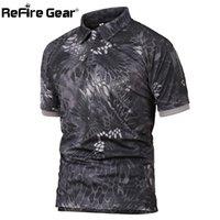 Revoir Gear Militat Tactical Polo Chemise Mens Summer Camouflage Camouflage Camouflage Fashion Tendance Respirant Séchage rapide Bras de poche Polo Chemises