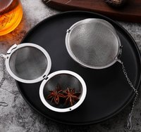 Herramientas de café Tabho Cocina, Comedor Bar Home Garden 304 Esfera de acero inoxidable Bloqueo de especias Malla Infusor Tea filtro Filtro Infu