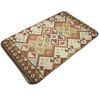 Carpets Retro Bohe Doormats Non-Slip Floor Mat Absorbent Bath Durable Kitchen Rug Entryway Welcome Mats For Front Door