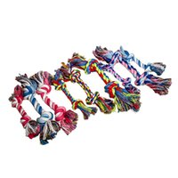 Funny dogs cat Toy Cotton Chews Knot Toys colorful Durable Braided Bone Rope 18CM 25g