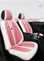21 novas capas de assento de carro para sedan suv durável couro universal cinco assentos conjunto tapetes de almofada para 5 lugares assento carro moda 04