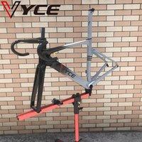 Vyce 밝은 검은 색 학년 회색 HQR37- 디스크 브레이크 카본 자전거 프레임 자전거 도로 자전거 핸들 바로 프레임 셋