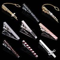 Kupfer-Musikinstrument-Streifen-Krawatten-Clips-Shirts-Shirts Business-Anzüge Krawatte-Klammern-Hals-Links für Männer Modeschmuck Geschenk Will und Sandy