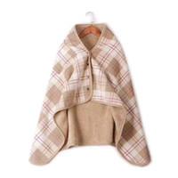 الأوشحة Kisibini الشتاء الخريف الصوف منقوشة مطبوعة زر المرأة رشاقته الدافئة الإناث شال التفاف 80 * 130 سنتيمتر المعطف