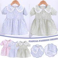 Girl's Dresses Summer Girls' Dress Toddler Kids Baby Girls Short Princess Cartoon Doll Collar Girl Clothing Çocuk Elbiseleri