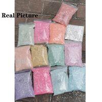 Tırnak Glitter 1 KG (Toplu) 12 Renkler Lazer Illusion Serisi Toz Karışık Altıgen Şekil Manikür Holografik Çanta Toz Craft için