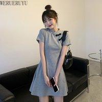 WERUERUYU Dress For Women Festival Clothing Gothic Sexy Mini Cheongsams Party Fashion Solid Color Qipao 210608