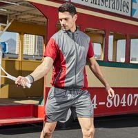 Men's Tracksuits Mens Sets Summer Running Casual Jogger Tracksuit Men Sweatshirt Sports Set Gym Zipper Slim Fit Male Sport Suit Breathable