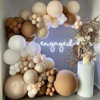 Party Decoration Blush Caramel Balloon Garland Arch Kit Engagement Anniversary Wedding Birthday
