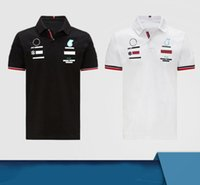 F1-2021 Racing Team 2-Color Polo T-shirt manica corta Poliestere Asciugatura rapida Asciugatura da moto Rading Motorcycle Guida manica corta