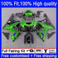 Injection Mold Bodys For SUZUKI GSXR1000 K2 GSXR-1000 00 01 02 Bodywork 24No.61 GSXR Green black 1000CC 1000 CC 00-02 GSX-R1000 2000 2001 2002 Motorcycle OEM Fairing