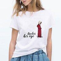 جديد harajuku جماليات t-shirt المرأة مثير تحت عينه handmaid tale طباعة قصيرة الأكمام قمم تيز الأزياء عارضة تي شيرت