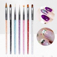 Nail art Pinsel Set Malerei Zeichnung Strassdous Stift Acryl Griff Nagel Pen UV Gel Polnisch DIY Design Maniküre Werkzeuge