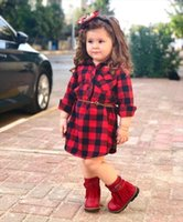 Newborn Kids Baby Girls Red Casual Plaid Blouses Amp Shirts Girl Style Top Shirt Dress Vestidos