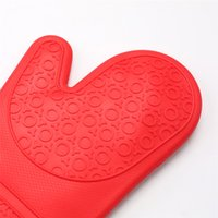 Long Professional Silicone Oven Mitt Heat Resistant Pot Holders Food Safe Flexible Oven Gloves Non-Slip Textured Grip KKB7904