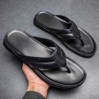 Slippers Zapatillas Casa Hombre Verano Sliders Flip Flop Man Men Flops Half Slipers For Sandals Designer Black Mens House Rubber