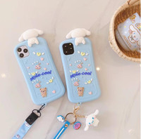 2020 new Anime Cute catoon Case For iPhone 12 SE2020 X XS Max Xr 8 7 6 6s Plus 11 pro max Cartoon Silicone Cover with Keychain