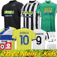 Top fans Version Jersey de football 2021 2022 Ronaldo Dybala Morata Chiesa McKennie Kit de football Chemise 21 22 Juve Men + Enfants Quatrième 4ème 4ème Set avec Chaussettes Gardien de but