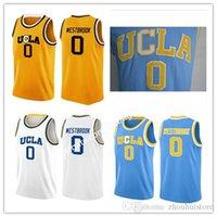 Männer Russell Westbrook Ucla Jersey, beste Qualität # 0 Russell Westbrook Ucla Bruins Blau Nähte College Basketball Jersey Größe S-XXL