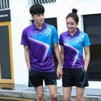 1Set Männer Frauen T-Shirt Badminton Sets Sport Top Badminton Kleidung Tisch Tennis Sets Tennis Wear Sets