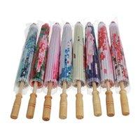 مظلات الفن مظلة الصينية الحرير القماش النمط الكلاسيكي ورقة الزيوت الزخرفية رسمت البارسول