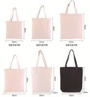 Sacos de compras White lona bolsa de lona em branco Mercearia de algodão não tecida Uso diário reutilizável