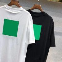 2021 Erkekler T-shirt Kadınlar Gevşek Kısa Kollu Moda Mektup Baskı Yaz Tees Sokak Üst Aktif Geometrik Trendy Baskı Moda Sokak Tarzı Hip Hop Tees Boy Rahat Top