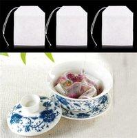 Boş Teabags 100 adet / grup Çay Poşetleri Dize Filtre Dokunmamış TeaTag 6x 8 cm Çay Coffee 11 V2 Için