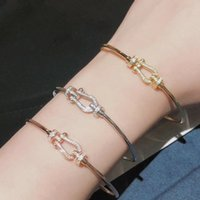 2020 New Bracelet Interlocking S925 Sterling Silver All -Crystal House Buckle Charm Bracelet ,Women 'S Jewelry
