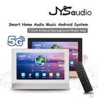 "Поддержка 5G WiFi Bluetooth в стене Усилитель Android 8.1 Smart Home Power Audio Music System 7 ""HD Display Player Connect на TV 211011"