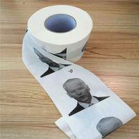 Nouveauté Joe Biden Toilette Papier Serviettes Rouleau Humour Gag Cadeaux Cuisine Salle de bain Bois Pâte à pâte imprimée Toilettes imprimées Papiers Serviette Owb10460
