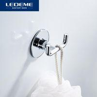 Gancho de parede de aço inoxidável de roupão de aço inoxidável para roupa porta casaco chapéu saco de toalhas de toalha banheiro L5705-2