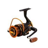 Yumoshi Bobines de pêche Jigging Métal Spinning Relneaux EF1000-7000 12BB 5.2: 1 Bobines de pêche Spinning Outils de pêche Accessoires 186 x2
