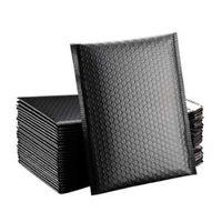 Bubble Cushioning Wrap Black 20 * 28cm Matte Umschlagtasche Mailer Verpackung für geschäftsgezeichnete Poly Mailer Self Seal Bags K229