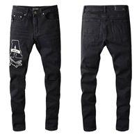 2021 Amiry Nouveaux Designers de luxe pour hommes Denim Jeans Trous Pantalons Pantalon Biker # 689