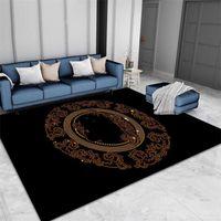 Bressliving Área de lujo Alfombras para sala de estar Tamaño Multi Moda Fashion Black Grey Modern Dormitorio Alfombra