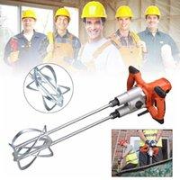 Auporo Endüstriyel Sınıf El Güç Beton Mikserler 1800 W Taşınabilir Elektrikli Harç Sıva Mikser Aracı